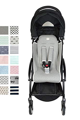 Fundas BCN® F191/9402d - Materassino per Passeggino BabyZen Yoyo + Protettori per le Cintura - Vintage Dot