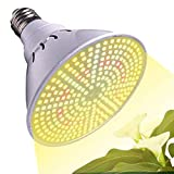 LED Plant Grow Light Bulb, 290 LEDs Sunlike Full Spectrum Plant Grow Lamp E27 100W Grow Light Bulbs for Indoor Garden Greenhouse Hydroponic Plants Vegetables, Flowers, Houseplants and Seedlings