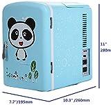 (4L/6Can Panda Blue Mini Refrigerator Ship from US) Portable Fridge & Warmer,Bedroom Mini Fridge For Bedroom,Electric Cooler for Car Refrigerator For Car,Office Refrigerator For Office
