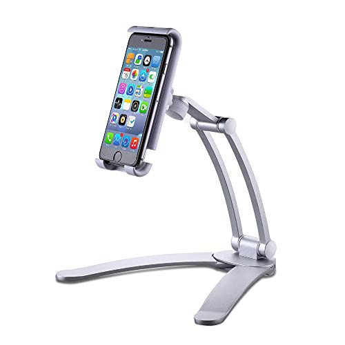 Phone Holder,Wall-Mounted Holder Desk Digital Multi-Joint Adjustable Stand Universal Phone Stand for Tablets Smartphones