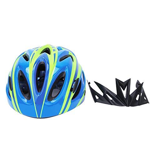 Longzhou Kinder Fahrradhelm, Kinder Unisex Schutzhelm Rollschuh Fahrrad Fahrrad Kopfschutz Ausrüstung Zubehör(S/M-Blau)