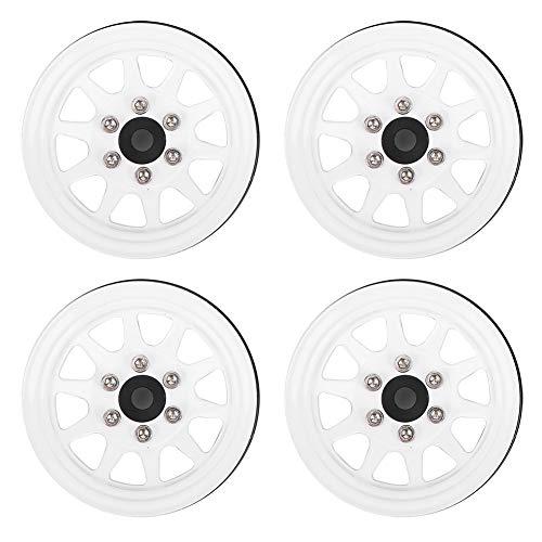 Eje de Rueda teledirigido, Eje de Rueda Beadlock de conducción Flexible con Dos Colores(White)