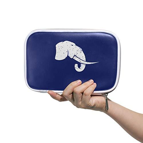 LORONA Schönes Logo mit einem Elefanten-Federmäppchen Kosmetiktasche Organizer Make-up-Clutch-Tasche mit großer Kapazität für die Reiseschule