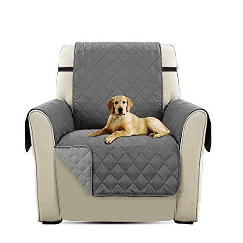 PETCUTE Lujo Cubre para Silla Fundas de Sofa Protector de sofá o sillón, Dos o Tres plazas Gris Silla