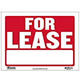 BAZIC 9' X 12' for Lease Sign, for Rent Rental House Home Apartment Car Auto Store Shops Business Waterproof Indoor Outdoor Signage on Wall Door, 1-Pack