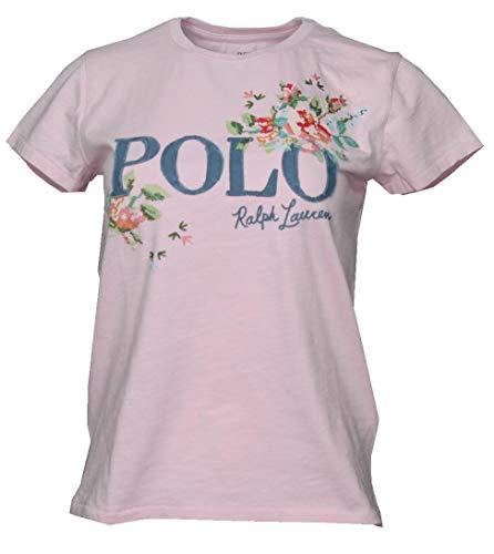 Ralph Lauren Camiseta para mujer con diseño de flores. rosa S