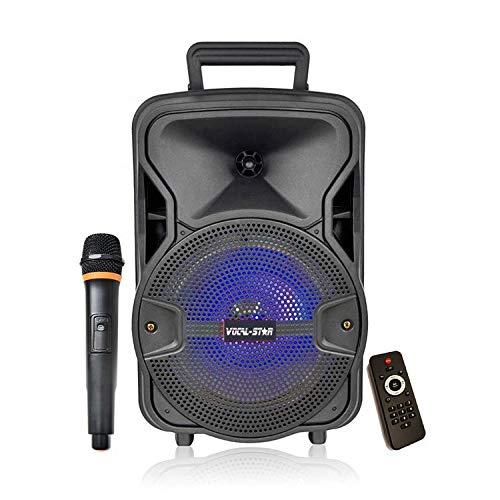 Portable Karaoke Machine & 100w Speaker with Bluetooth, 1 Wireless...