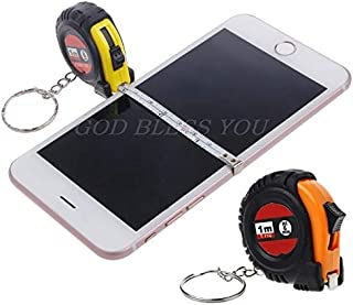Tape Measures - Mini Retractable Tape Measure Ruler Portable Pull Keychain Heart Shaped 1m - Heavy Measures Nurse Voice Fractions Level Occidental Open Novelty Accessories Height Electronic T