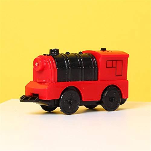 Tren de juguete con motor a pilas, tren de madera, circuito ferroviario,...