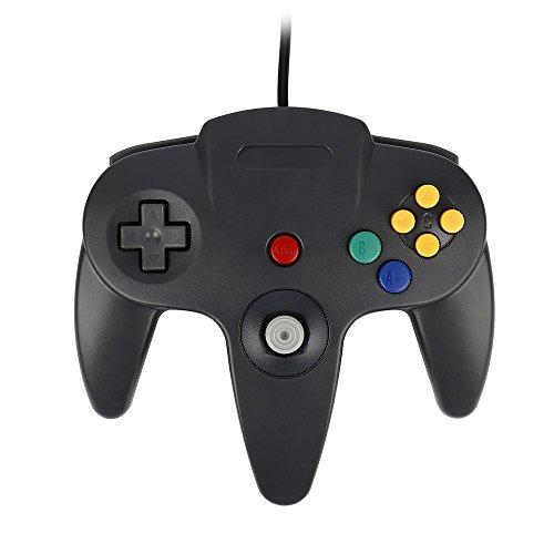 QUMOX Controlador de Juego Joystick Mando de Juego para Nintendo 64 N64 System Gamepad, Negro
