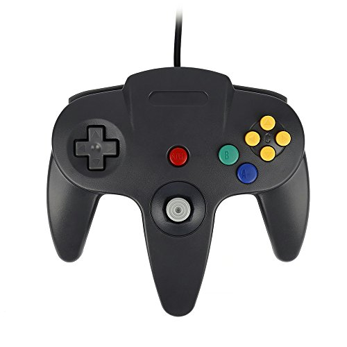 QUMOX Jeux Controleur Joystick pour Nintendo 64 N64 System GamePad noir