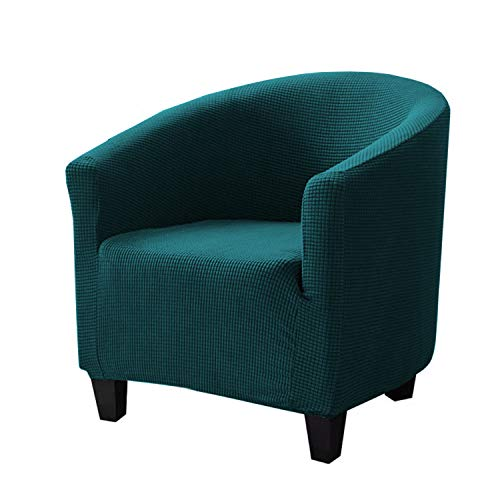ZC MALL Club Chair Slipcover,Stretch Armchair Cover,Sofa Cover Furniture Protector for Living Room Arm Chair Cover Jacquard Spandex Couch Covers(Club Chair,Peacock Blue)