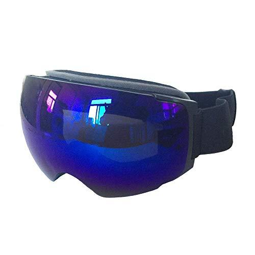 Gafas de esquí Gafas de esquí Las Gafas Protectoras se Pueden Cambiar con Varios imanes de Lentes Antivaho Gafas de esquí esféricas de Campo Grande Gafas Protectoras (Color: película de Merc