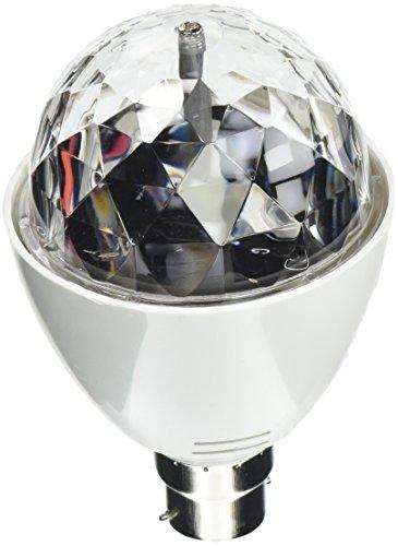 Playlearn Ampoule LED cristal à vis ou à baïonnette B22 E27 Discothèque Activation par son Rotation automatique Multicolore B22 - bayoneta, sonido activo
