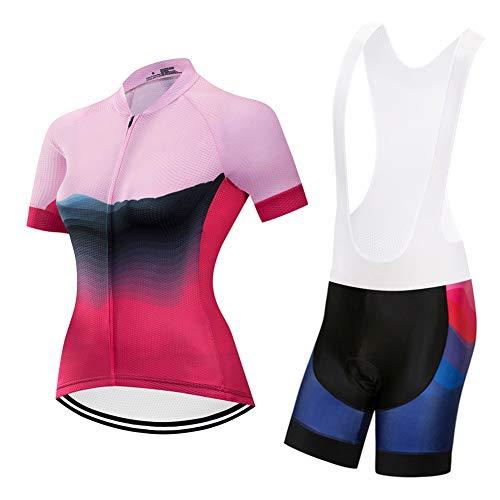 TETED Ciclismo de Las Mujeres Transpirable Jerseys de Secado rápido Conjunto +...