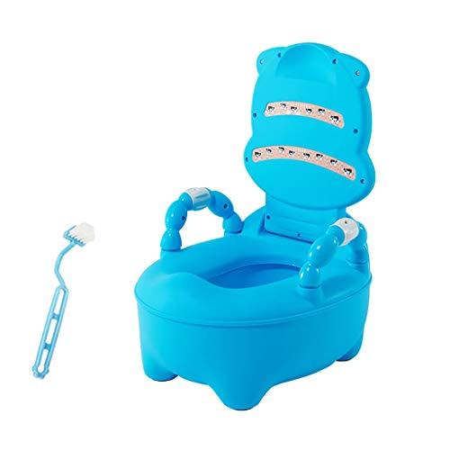 QFbp Bambini da 6 Mesi E più Bambini più Piccoli Trainer Step Up Sedile WC Target per Pipì,Bacinella Estraibile Pulire con Facilità Vasino Toilette