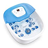 Foot Spa Bath Massager with Heat Bubbles Vibration, Foot Bath Bucket with Pedicure Grinding Stone, 16 Massage...