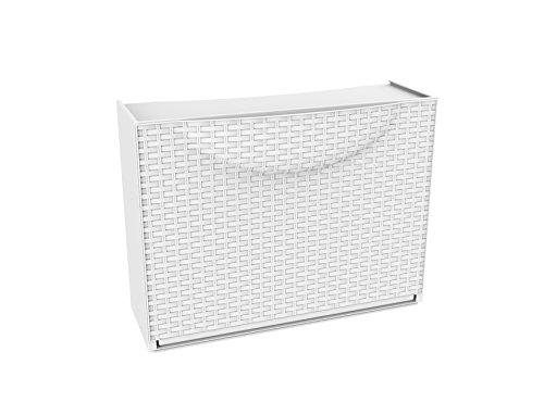 TERRY Harmony Box Armadio Scarpiera, Bianco Rattan, 51x19x39 cm