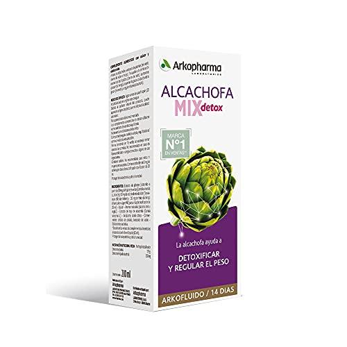 Arkopharma Arkofluido Alcachofa Mix Detox, Regular el Peso, Detoxificar, Control de Peso, Eliminar Líquidos y Toxinas, Complemento Alimenticio, 280 Ml