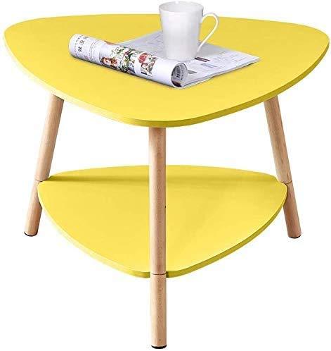 UKHOMEGARDEN Espera Oficina para el Almuerzo y una pequeña Esquina de la Mesa de Centro de Sala de Estar,Yellow-Oval