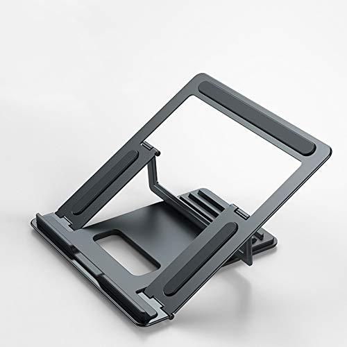 Foldable Laptop Stand,Adjustable Multi-Angle Non Slip Portable Laptop Mount For Laptops Up To 17', Gray