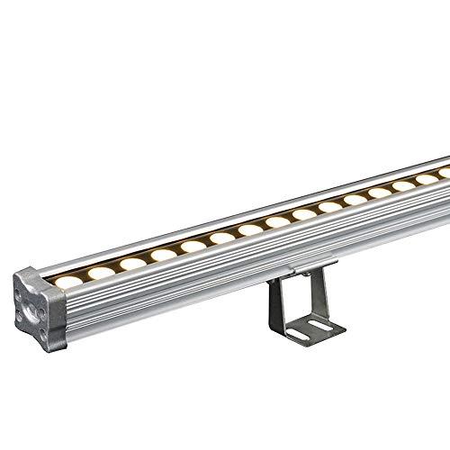 12W LED Wall Washer Linear Light, IP66 Waterdicht wallwash Spot met Steel Glass Panel, warm wit/wit/geel/RGB,Natural light
