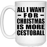 N\A Todo lo Que Quiero para Navidad es más Cestoball Taza de café con Leche Taza de té de cerámica Vajilla para Amigos Mamá Papá Niño Hijo Hija Cumpleaños Aniversario Madres Día del Padre DMT9HX