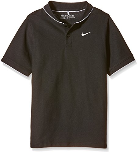 Nike Jungen Momentum Fly Poloshirt schwarz Black/White/Reflective Silver S