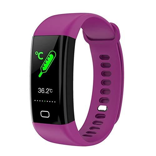 LXF JIAJU para Huawei Nova 7 Pro Nova 6 P40 Pro P30 Mate30 Mate XS Smart Band Pulsera Presión Arterial Reloj Inteligente Ritmo Cardíaco Banda Deportiva (Color : Purple)