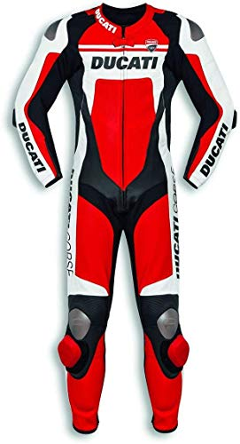 Ducati 9810451 - Mono deportivo de cuero de una pieza CORSE C4 perforado (54)