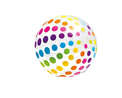 Intex 59065NP - Pelota hinchable gigante círculos de diámetro 107 cm, 3...