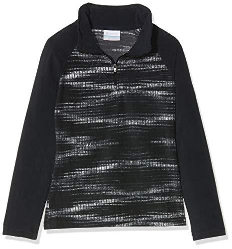 Columbia Glacial II Fleece Print Half Zip Fille Veste, Black Diamond, FR : S (Taille Fabricant : S)
