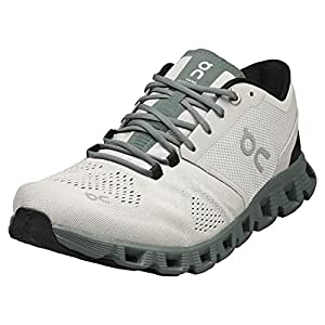 ON Running Mens Cloud X Synthetic Textile Glacier Olive Trainers 8.5 US