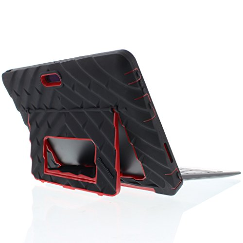 Gumdrop Cases Hideaway Ständer für Dell Venue 10 Pro 5055 Rugged Tablet Case, Cover schwarz/rot 5055