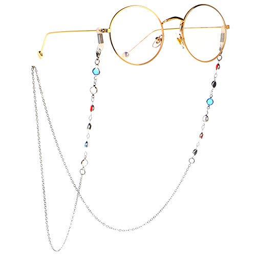 Weesey Brillenketten für Lesebrillen, Brillenband/Lesebrillenband/Brillenbänder/Sonnenbrillenband Lesebrillenkette mit Hohlperlen