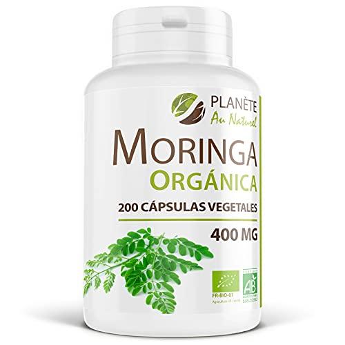 Moringa Oleifera Orgánica - 400 mg - 200 cápsulas vegetales