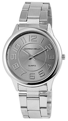 Donna Kelly Damen Analog Quarz Uhr mit Edelstahl Armband 191321500001