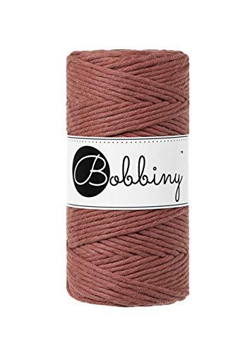 Bobbiny Hilo de macramé Oeko-Tex Premium de algodón ecológico 3 mm x 100 m (Sunset)