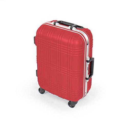 MasterGear rigida mano valigia bagagli | 4 ruote (360 gradi), carrello, valigie, ABS, TSA, impilabili, per numerose compagnie aeree idonee | rosso