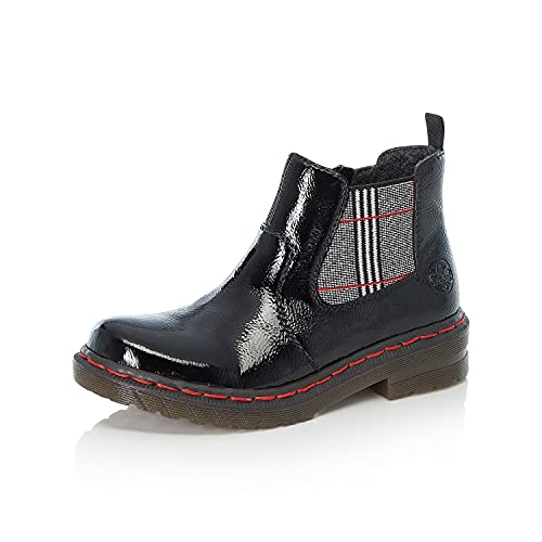 Rieker Damen Chelsea Boots 76264, Frauen Stiefeletten,Schlupfstiefel,Women's,Woman,Lady,Ladies,Boots,Stiefel,Bootee,Booties,schwarz (00),38 EU / 5 UK