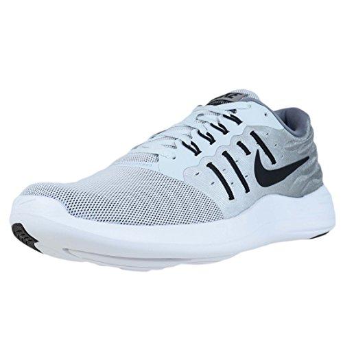 Nike Mens LunarStelos Pure Platinum/Cool Grey/White/Black Nylon Running Shoes 14 M US