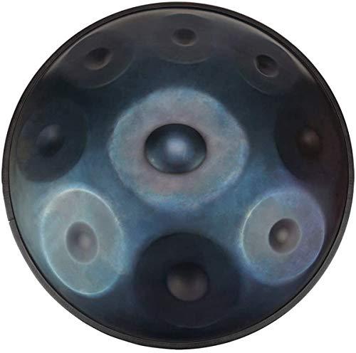 Mano Pan en D Minor Acero 9 Notas Mano Tambor + Soft Hand Pan Bolsa (22.8' (58cm), Deep Blue (D Minor) 9 Notas D3 A BB C D E F G A),Tongue Drum