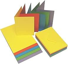 Craft UK 281C6Karten und Umschläge, helle Farben, 50Stück
