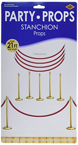 Beistle Stanchion Party Requisiten 1 Teil One Size Rot/Gold/Silber