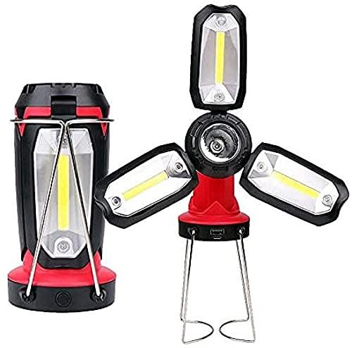 WXking Luces de camping USB Recargable Multifuncional LED de LED Bombilla Bombilla Plegable Luces de emergencia Doblar iluminación deformable para al aire libre Luz portátil Camping Senderismo Tiendas