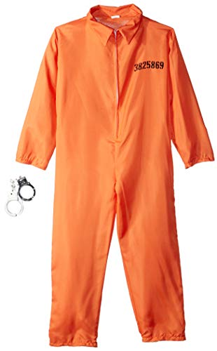Fun World Got Busted Costume, Large 12 - 14, Multicolor