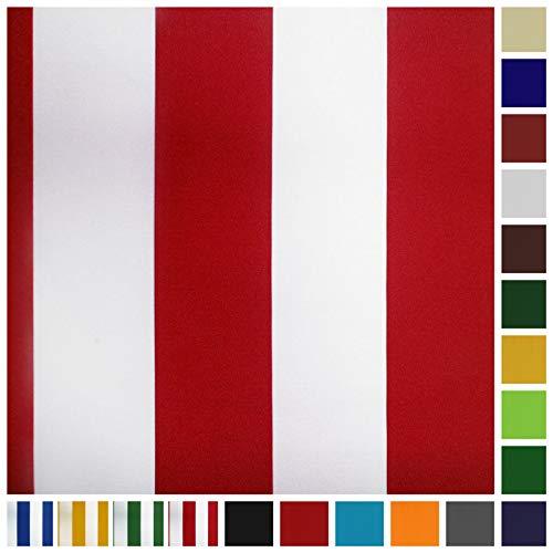 Neumann Handelsvertrieb Markisenstoff Plane Zeltstoff Sonnensegel Persenningstoff Wasserabweisend (Rot-Weiss)