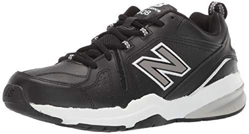 New Balance Men's 608v5 Casual Comfort Cross Trainer Shoe, Black/White, 8 W US