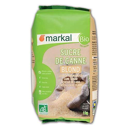 Sucre blond de canne (mi,blanc), 1kg, Markal