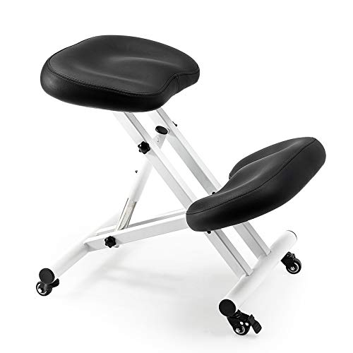 CIUTANG Ergonomic Kneeling Chair Comfortable Thick Mould Cushion Rolling Adjustable Stool, Improve Your Posture with Angle Seat and Knee Rest for Home and Office